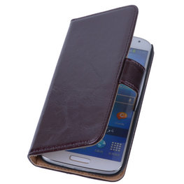 PU Leder Mocca Hoesje voor Samsung Galaxy S3 Book/Wallet Case/Cover