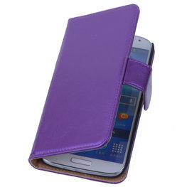 PU Leder Lila Hoesje voor Samsung Galaxy S3 Book/Wallet Case/Cover