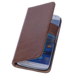 PU Leder Bruin Hoesje voor Samsung Galaxy S3 Book/Wallet Case/Cover