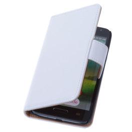 PU Leder Wit Hoesje voor LG L90 Book/Wallet Case/Cover