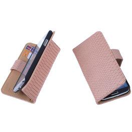Bestcases Slang Pink Hoesje voor Huawei Ascend Y330 Bookcase Cover
