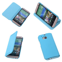 Bestcases Turquoise Map Case Book Cover Hoesje voor HTC One M8