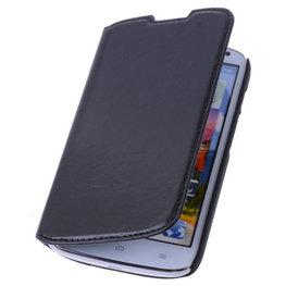Bestcases Zwart Map Case Book Cover Hoesje voor Huawei Ascend P6
