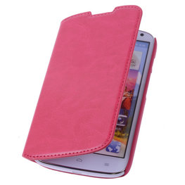 Bestcases Fuchsia Map Case Book Cover Hoesje voor Huawei Ascend P6