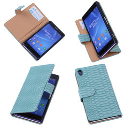 Bestcases Slang Turquoise Hoesje voor Sony Xperia Z2 Bookcase Cover