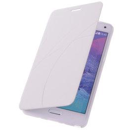 Bestcases Wit Hoesje voor Samsung Galaxy S4 Active TPU Book Case Flip Cover Motief