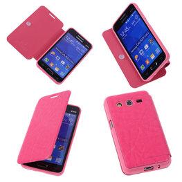 Bestcases Pink TPU Book Case Flip Cover Motief Hoesje voor Samsung Galaxy Core 2