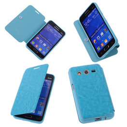 BC Turquoise TPU Book Case Flip Cover Motief Hoesje voor Samsung Galaxy Core 2