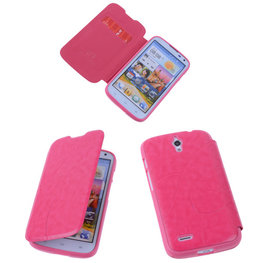 Bestcases Pink Hoesje voor Huawei Ascend G610 TPU Book Case Cover Motief