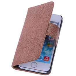 BestCases Glamour Gold Echt Leer Wallet Case Hoesje voor Apple iPhone 4 4S