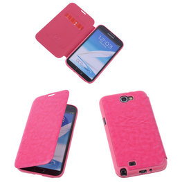 Bestcases Pink TPU Book Case Flip Cover Motief Hoesje voor Samsung Galaxy Note 2