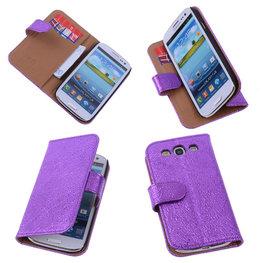 BestCases Glamour Purple Hoesje voor Samsung Galaxy S3 Neo Echt Leer Wallet Case