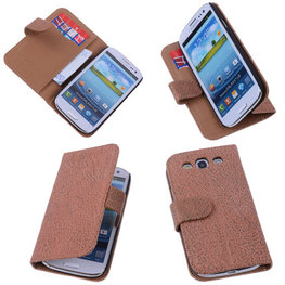 BestCases Glamour Gold Hoesje voor Samsung Galaxy S3 Neo Echt Leer Wallet Case
