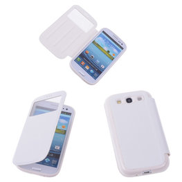 View Case Wit Hoesje voor Samsung Galaxy S3 / S3 Neo TPU Bookcover