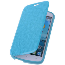 Bestcases Turquoise Hoesje voor Huawei Ascend G740 TPU Book Case Cover Motief