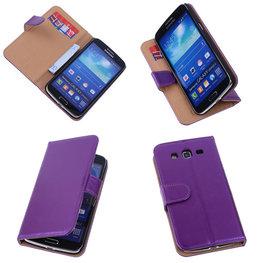PU Leder Lila Hoesje voor Samsung Galaxy Grand 2 Book/Wallet Case/Cover