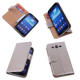 PU Leder Goud Hoesje voor Samsung Galaxy Grand 2 Book/Wallet Case/Cover