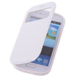 View Case Wit Hoesje voor Samsung Galaxy Trend Plus TPU Bookcover
