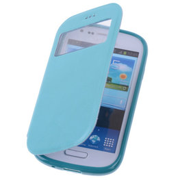 View Case Turquoise Hoesje voor Samsung Galaxy Trend Plus TPU Bookcover