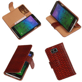 BC Slang  Rood Hoesje voor Samsung Galaxy Alpha Bookcase Cover