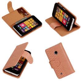 BC Slang Pink Hoesje voor Nokia Lumia 530 Bookcase Wallet Cover