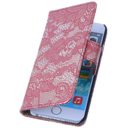 Lace Rood iPhone 4 4s Book/Wallet Case/Cover