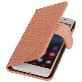 BC Slang Pink Hoesje voor Huawei Ascend G7 Bookcase Cover