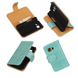 BC Slang Turquoise Hoesje voor Samsung Galaxy Young 2 Bookcase Cover