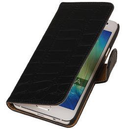 Zwart Croco Hoesje voor HTC Desire Eye s Book/Wallet Case/Cover