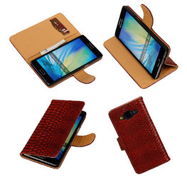 BC Slang Rood Samsung Galaxy A5 2015 Bookcase Cover Hoesje