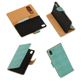 BC Slang Turquoise Hoesje voor HTC Desire Eye Stand Bookcase Cover