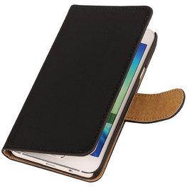 Zwart Hoesje voor Motorola Nexus 6 Book Wallet Case