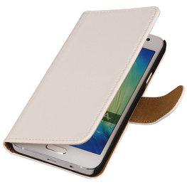 Wit Hoesje voor Motorola Nexus 6 Book Wallet Case