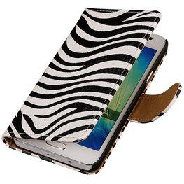 Zebra Hoesje voor Motorola Nexus 6 Book Wallet Case