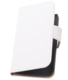 Hoesje voor Samsung Galaxy Fresh Effen Booktype Wallet Wit
