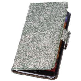 Lace Donker Groen Hoesje voor Huawei Ascend G6 4G Book/Wallet Case/Cover