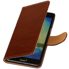 PU Leder Bruin Hoesje voor Samsung Galaxy S Duos 3 Book/Wallet Case