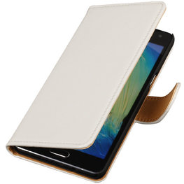 PU Leder Wit Hoesje voor Samsung Galaxy S Duos 3 Book/Wallet Case