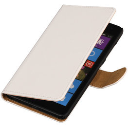 Wit Hoesje voor Huawei Ascend Y520 Book/Wallet Case/Cover