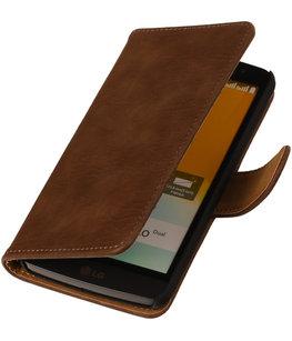 Hout Bruin Honor 3c Book Wallet Case