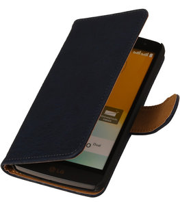 Hout Donker Blauw Honor 3c Book Wallet Case