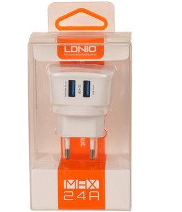 LDNIO 2x USB Oplader 2.4 Ampere voor Hoesje voor Sony Xperia Z5 Compact
