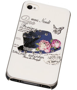3D Hardcase met Diamant iPhone 4/4S Hoed