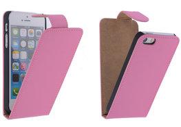 Roze Effen Classic Flipcase iPhone 5/5S