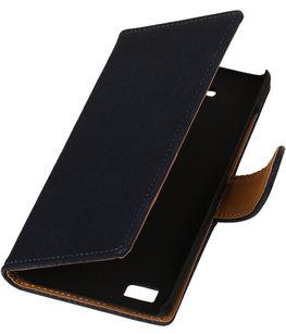 Hout Grijs Honor 3c Book Wallet Case