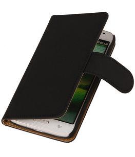 Hoesje voor HTC Desire 700 Crocodile Booktype Wallet Zwart