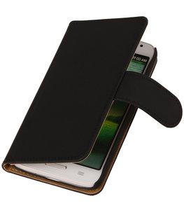 Hoesje voor Motorola Moto X Effen Booktype Wallet Zwart