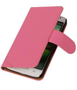 Hoesje voor Sony Xperia Z1 Effen Booktype Wallet Roze