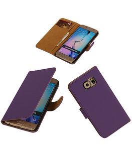 Hoesje voor Samsung Galaxy Grand Max Effen Booktype Wallet Paars