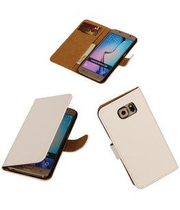 Hoesje voor Samsung Galaxy Grand Max Effen Booktype Wallet Wit